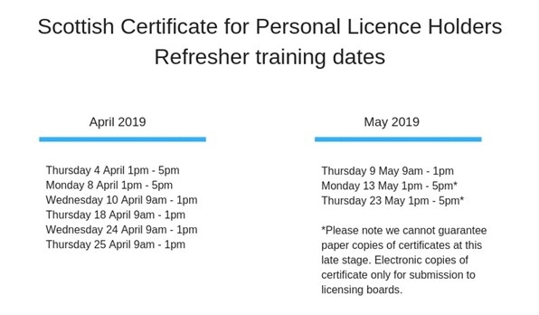 PLH refresher courses updated